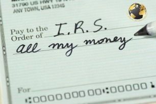 check-to-internal-revenue-service-for-all-my-money-picture-id470896082